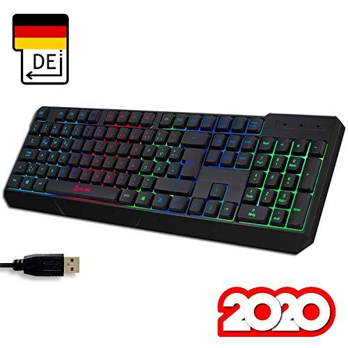 KLIM Chroma Gaming Tastatur QWERTZ DEUTSCH mit Kabel US...