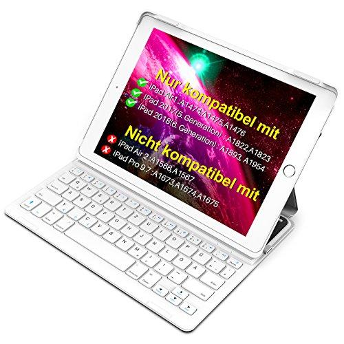 """Inateck Tastatur Hülle kompatibel mit 9.7"""" iPad 2018(6..."""